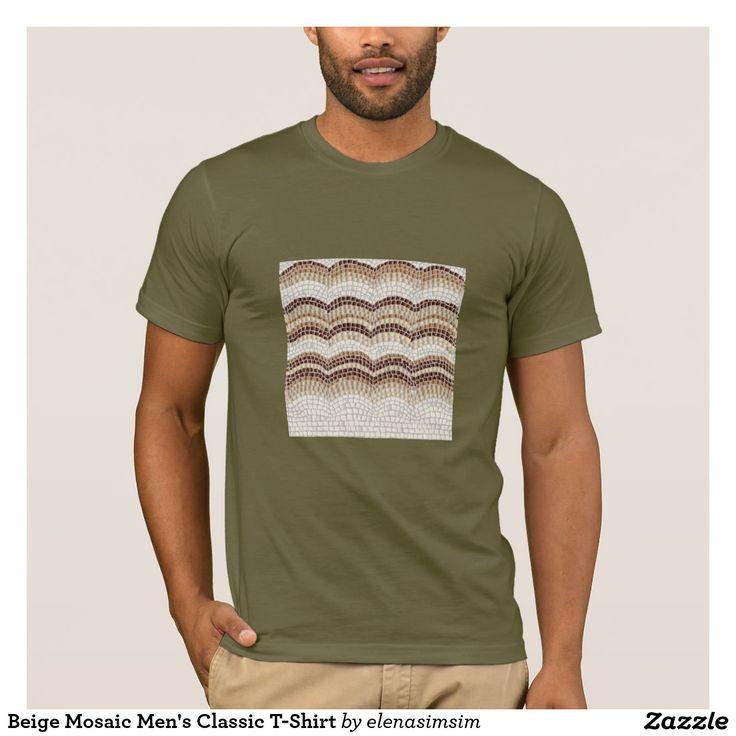 Beige Mosaic Men's Classic T-Shirt