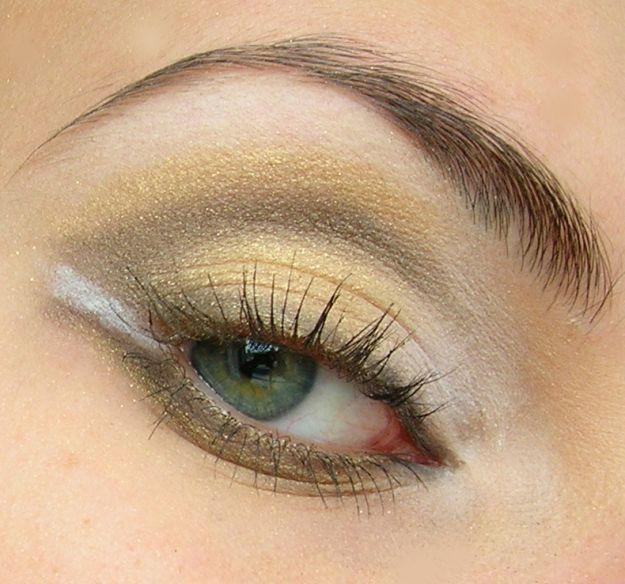 Золотистый макияж Смоки Айс  ::: onelady.ru ::: #makeup #eyes #eyemakeup