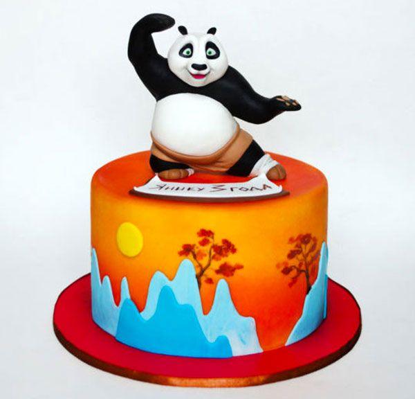 Torta di Kung Fu Panda in pasta di zucchero n.44