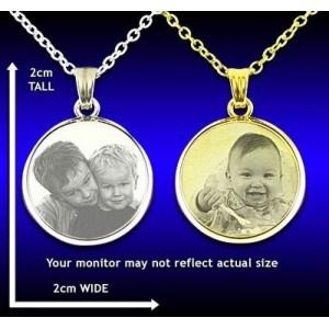 Personalised bevelled round pendant...