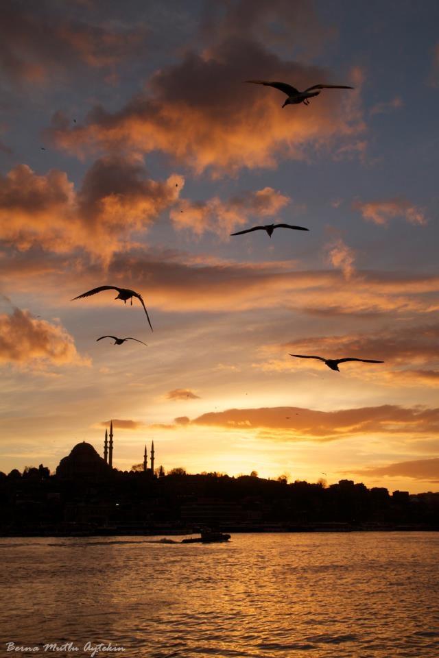 karaköy sunset . Istanbul