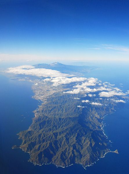 Island of Tenerife (Canary Islands, Spain). I took this photo from the window of the airplane a few years ago.