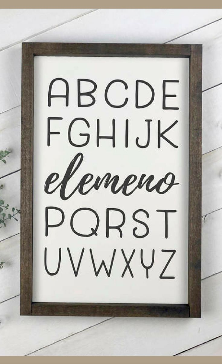 It's so funny how all kids say the ABC's like this at first!  Alphabet sign, Funny wood sign nursery, playroom decor, ABC sign, farmhouse nursery, rustic home decor, Rustic kids wall decor, Baby shower gift idea, Farmhouse decor  #ad