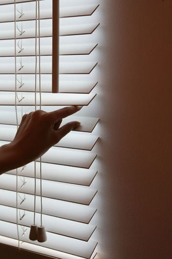 Fake Window Blinds Create Optical Illusion - My Modern Metropolis