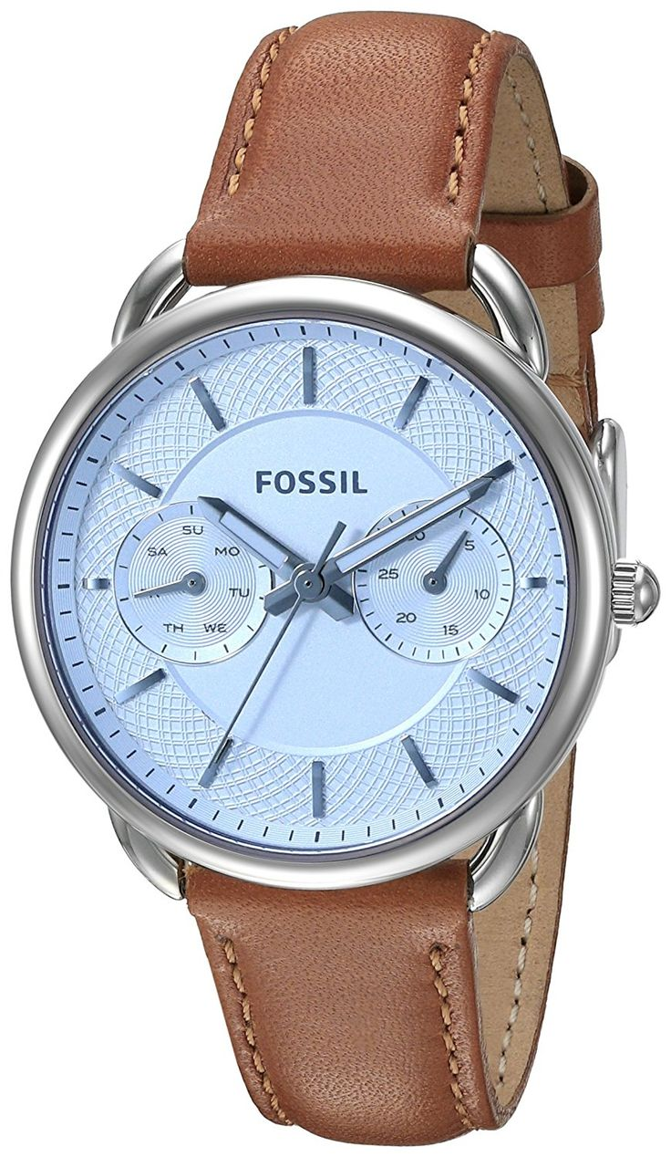 Fossil Women's ES3976 Tailor Multifunction Watch With Brown Leather Band ** Be sure to check out this awesome watch.