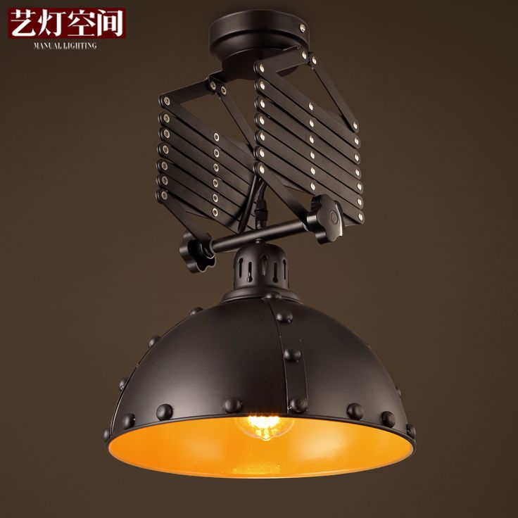 Cheap Light Cafe Buy Quality Vintage Ceiling Directly From China Iron Lights Suppliers Loft Industrial Edison Lamp Flex Fold