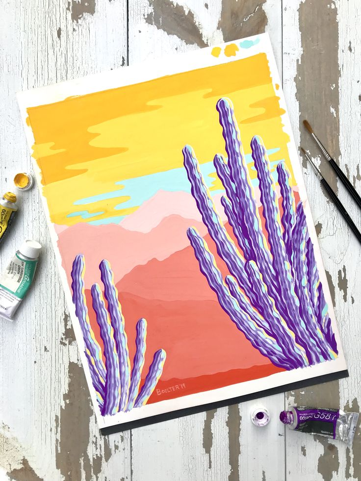 Signed Art Print by Philip Boelter – Organ Pipe Sunset""