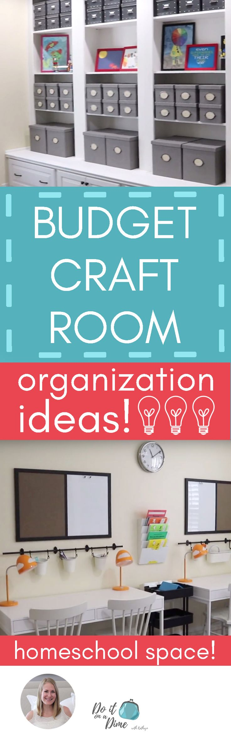 'Budget craft room organization ideas...!' (via DO IT ON A DIME)