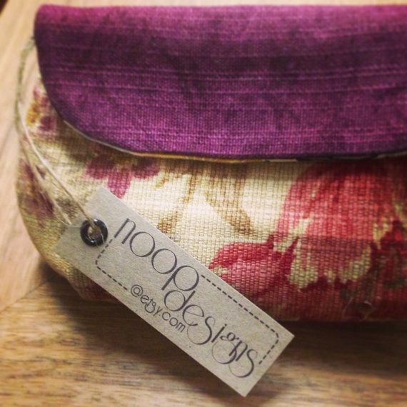 Beatiful fabric clutch purse Handmade with upcycled by NOOPdesigns