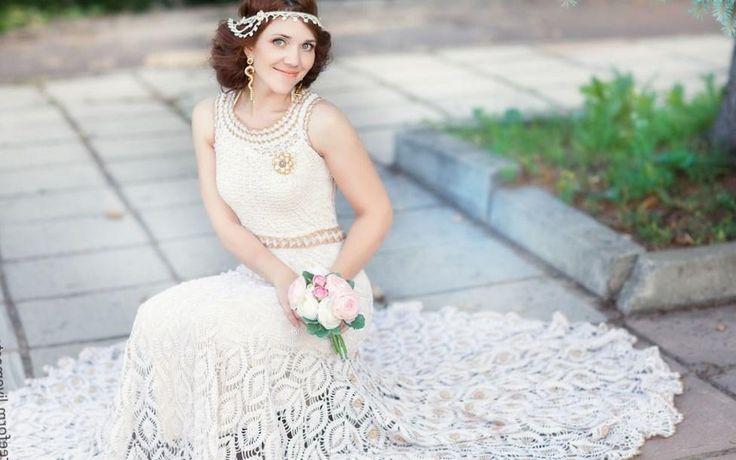 Вязаное свадебное платье фото - http://1svadebnoeplate.ru/vjazanoe-svadebnoe-plate-foto-2846/ #свадьба #платье #свадебноеплатье #торжество #невеста