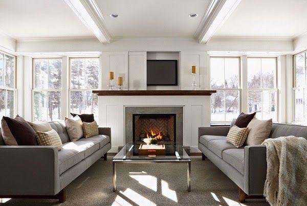 Conception salon avec des télévisions modernes