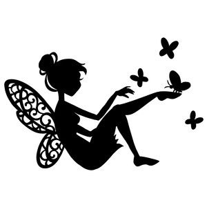 49 best Fairies images on Pinterest | Fairy silhouette, Silhouette ...