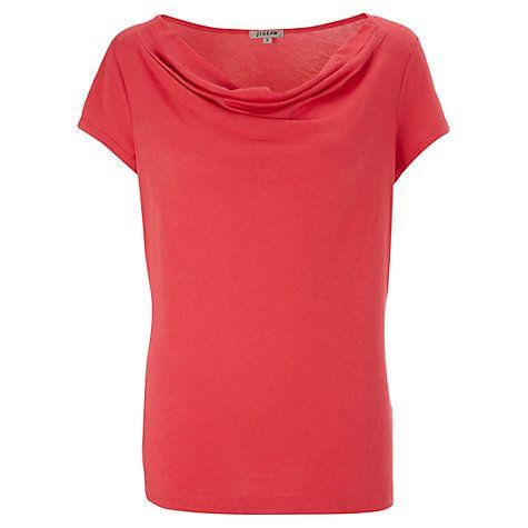 Buy Jigsaw Modal Cotton Cowl Neck T-Shirt Online at johnlewis.com