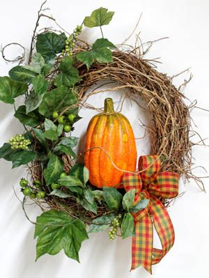 Pumpkin Patch Wreath, Thanksgiving Wreath
