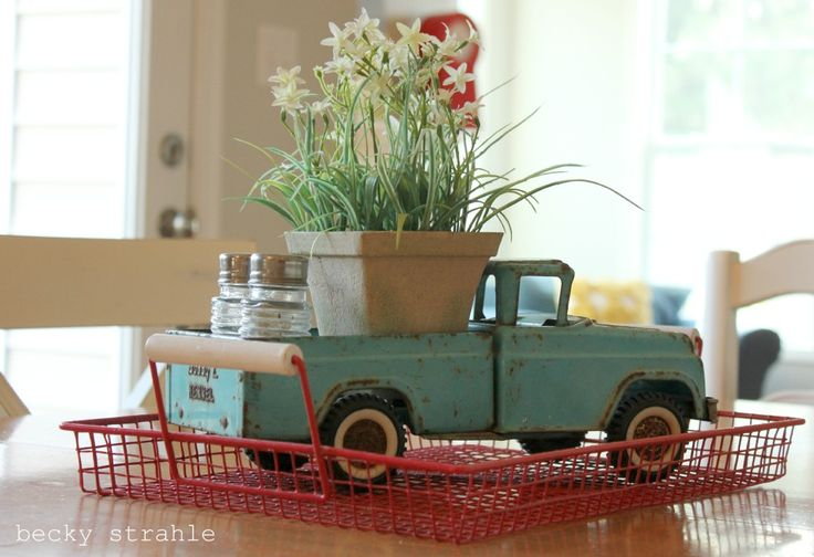 Metal Vehicle Planters : Best images about toy truck car planters on pinterest