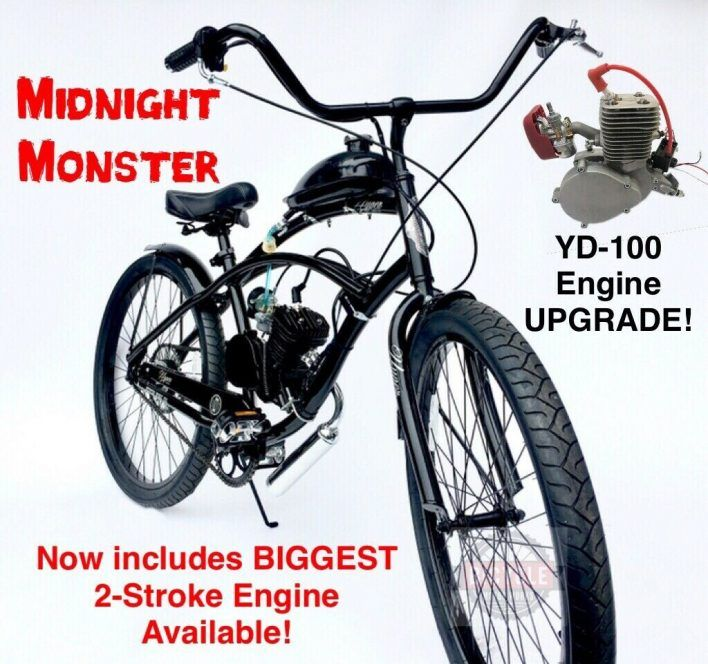 Midnight Monster Biggest 2 Stroke Yd 100 Motorized Bicycle Kit