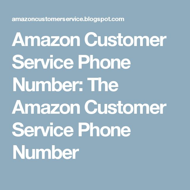amazon customer service phone number