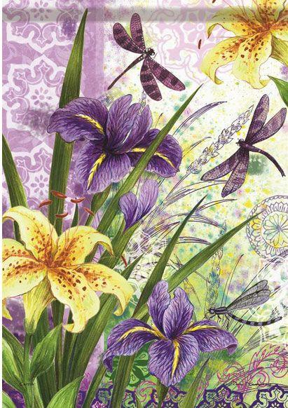 Beautiful Irises, vibrant colours.