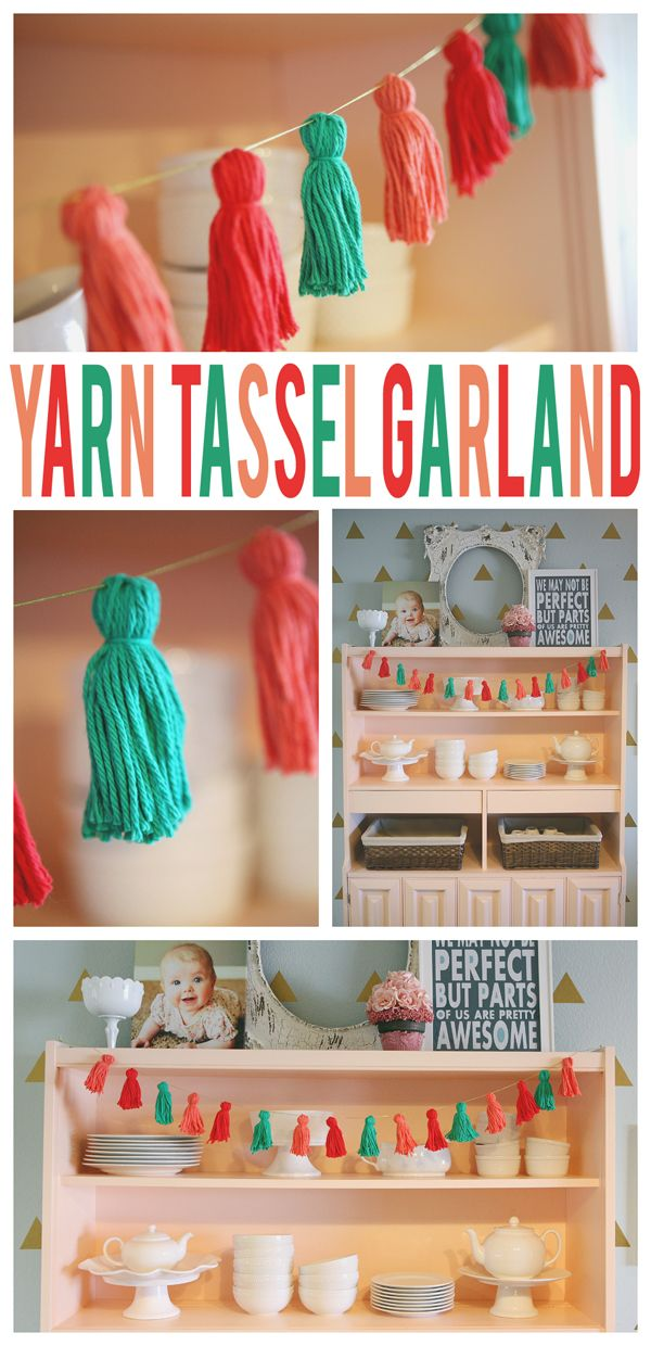 Yarn Tassel Garland - an easy craft project to start out the year! #michaelsmakers