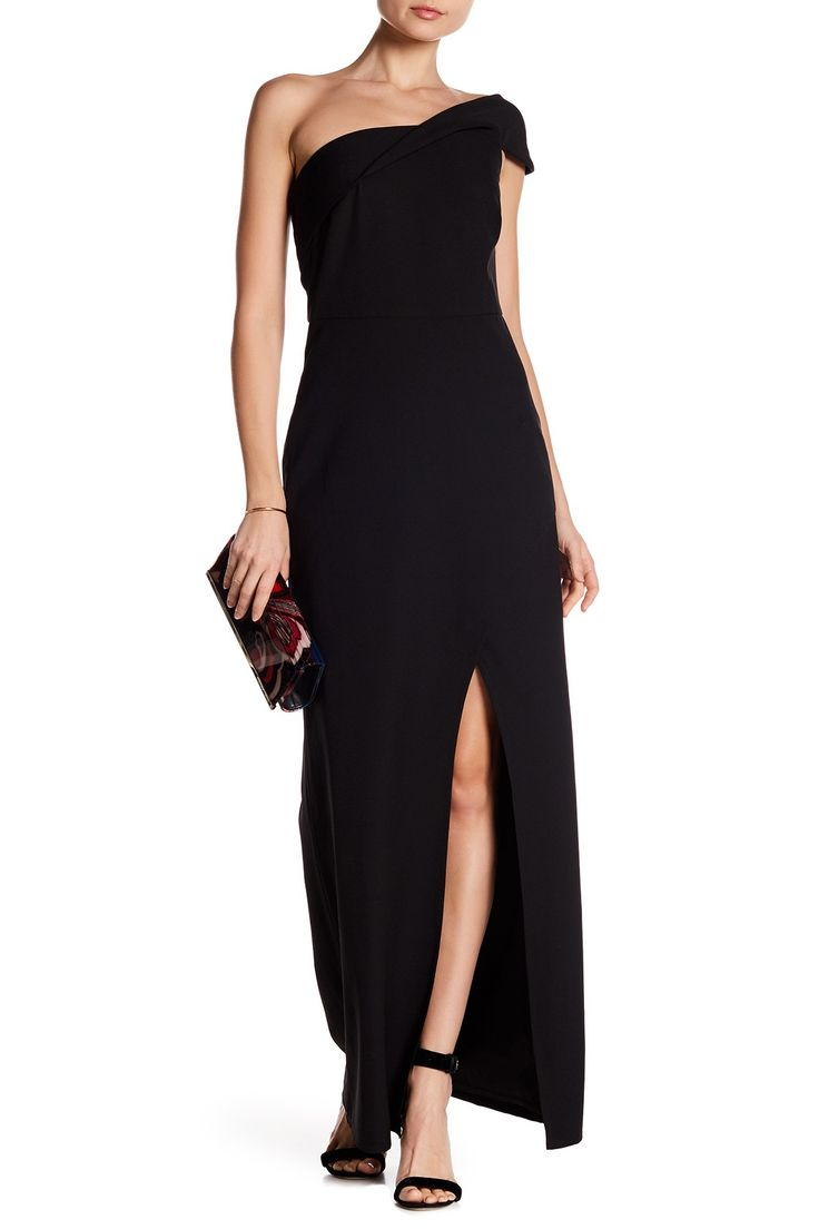 One Shoulder Slit Crepe Gown by Laundry By Shelli Segal on @nordstrom_rack