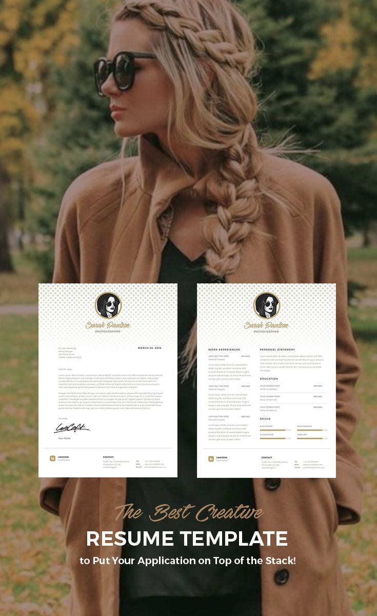 Creative and stylish resume template! Love it!!