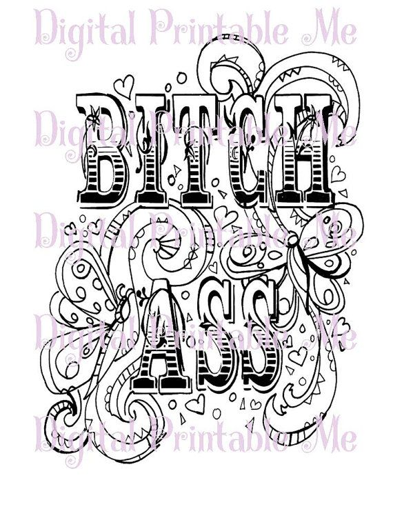 71 best swear word coloring pages images on Pinterest ...