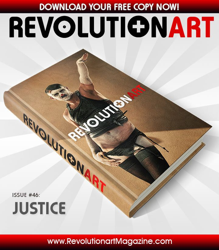 "Get a FREE EDITION of REVOLUTIONART #46 ""JUSTICE"" here: http://www.revolutionartmagazine.com #creativity #color #design #graphicdesign #models #art #pdf #revolutionart #ebook #cover #editorial #photoshop #illustrator #advertisement #graphics"