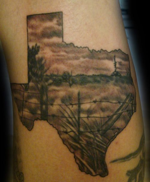 texas tattoo. But of Oregon of course