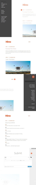 Mimo Clean Tumblr Theme Google Slides