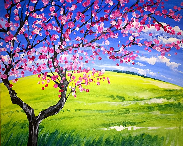 Spring Cherry Blossom at The Shack - Mililani - Paint Nite Events