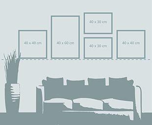 Bilder richtig aufhängen - Unterkante