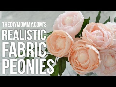 """DIY How to create fabric flowers: Lesson#2 """"China Rose"""" - YouTube"""