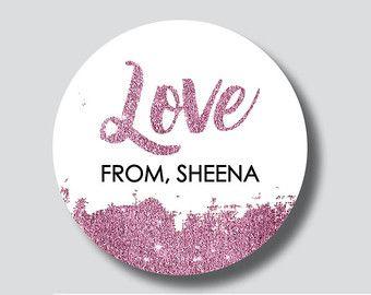 Items op Etsy die op 54 wit gemaakt met liefde Stickers, gemaakt met liefde etiketten met ronde Stickers, bruiloft Stickers, geschenkverpakking, handgemaakte Stickers lijken