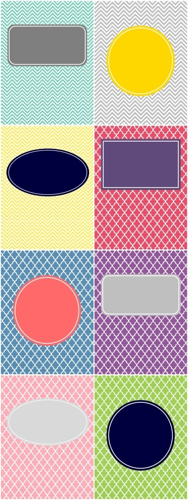 Cute, customizable binder covers!  Perfect for organization!