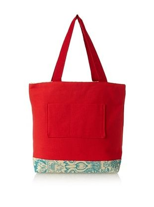 43% OFF amykathryn Gerbera Tote Bag, Red/Turquoise Print