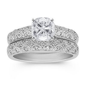 Vintage Diamond Wedding Set With Pave Setting, Shane Co This Is The Ring On  Hold
