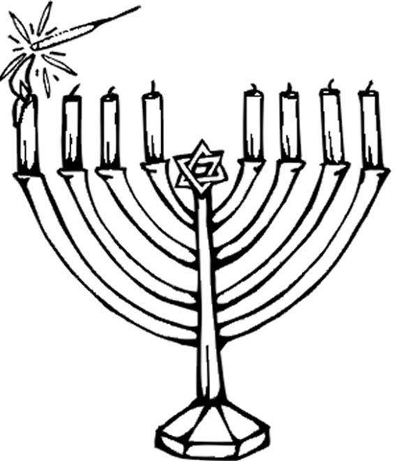hanukkah malvorlagen hanukkah candle coloring pages