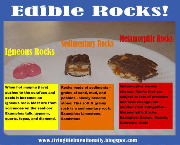 Edible Rock Classifications – Earth Science for Kids