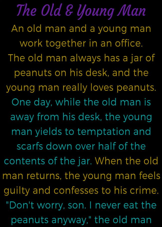 FUNNY JOKES The Old Man Amp Young Man Funny Quotes