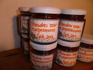 LE  RICETTE DI CHARA: Confettura di pomodori rossi e peperoncino (Μαρμελ...