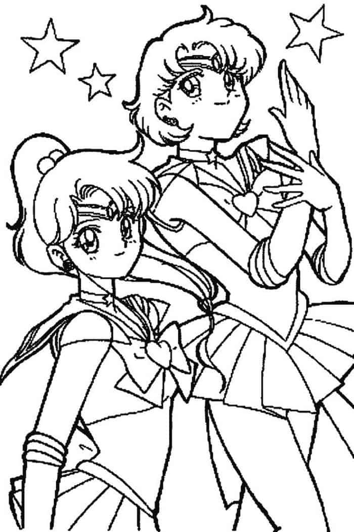 Sailor Moon Coloring Pages Uranus And Neptune Sailor Moon Coloring Pages Moon Coloring Pages Cartoon Coloring Pages