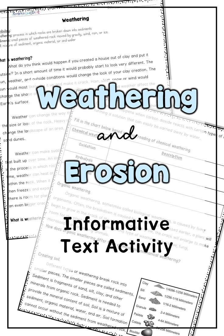 hight resolution of Weathering and Erosion Printable Activity   Weathering and erosion