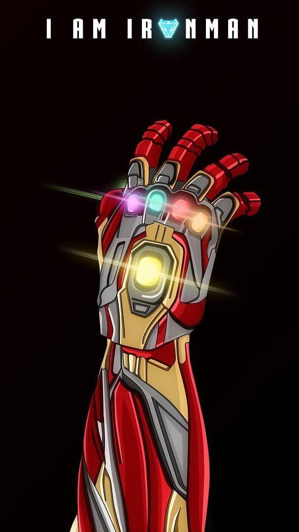 I Am Iron Man Infinity Stones Iphone Wallpaper Marvel Iron Man Iron Man Avengers Iron Man