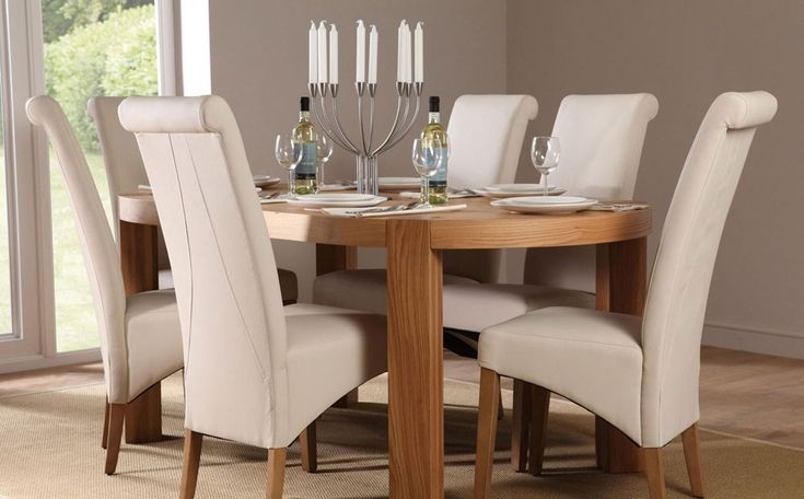Clifton Oval Oak Dining Table and 6 Chairs Set (Richmond Cream) for only at Furniture Choice. & 31 best Best Dining Room Table Sets images on Pinterest | Dining ...
