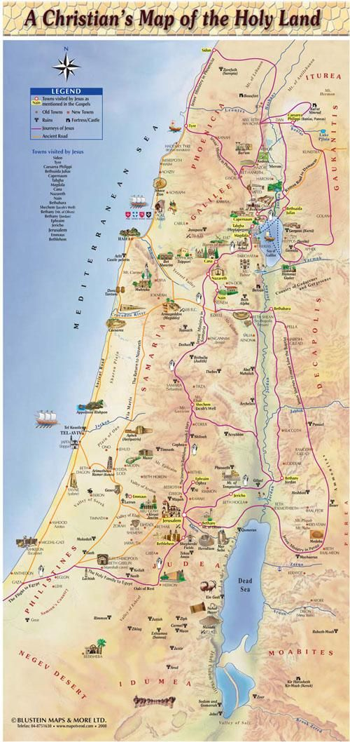 A Christian map of the Holy Land