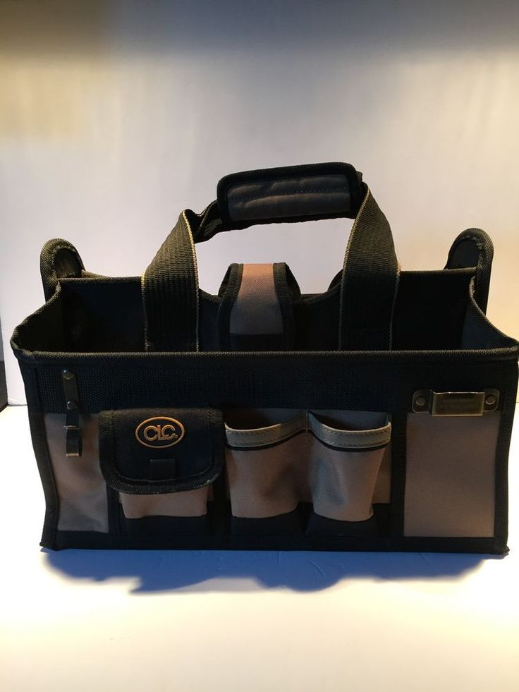 CLC Tool Bag Electrician 3 Compartment Storage Organizer Canvas Heavy Duty  | eBay