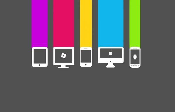Wallpaper apple, android, windows, computer, phone, sotovyy.tsveta, color < wallpapers hi-tech - download