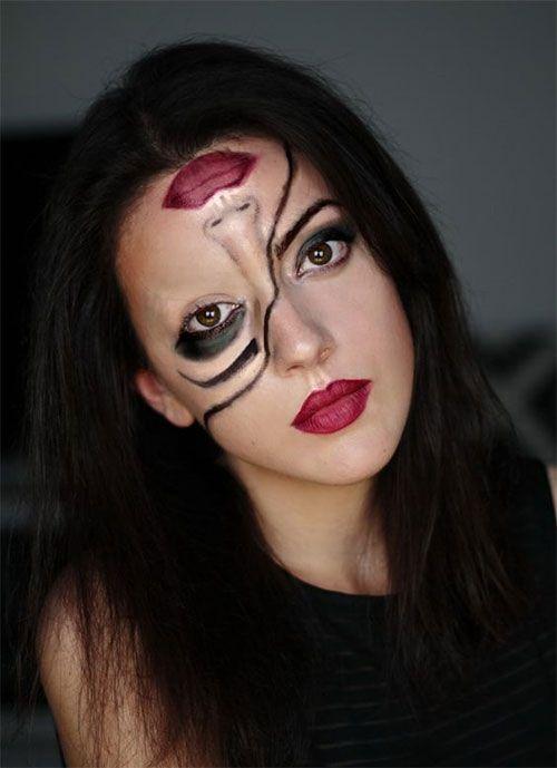 15+ Scary Halloween Mund, Zähne & halbes Gesicht Make-up für Mädchen & Frauen…