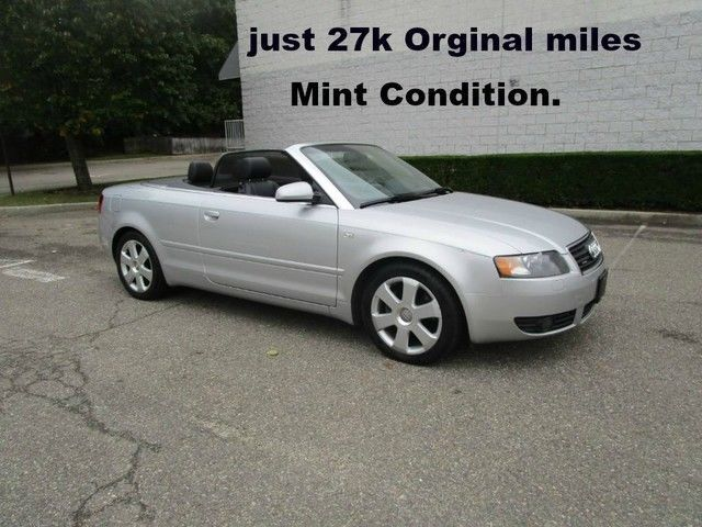 Nice Awesome 2004 Audi A4 3.0L Convertible Leather heated seats Clean Fax 27 2004 Audi A4 3.0L Convertible Leather heated seats Clean Fax 27 Light Silver Met 2018