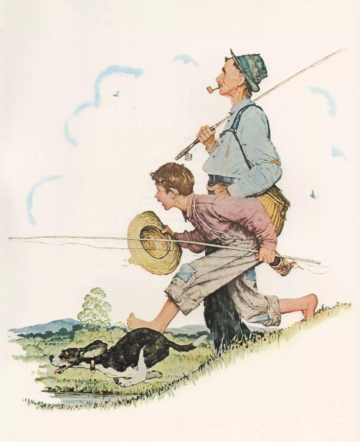 Fishing (Norman Rockwell)